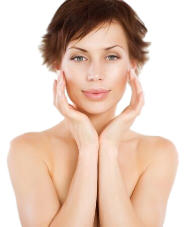 Facelift woman face photo