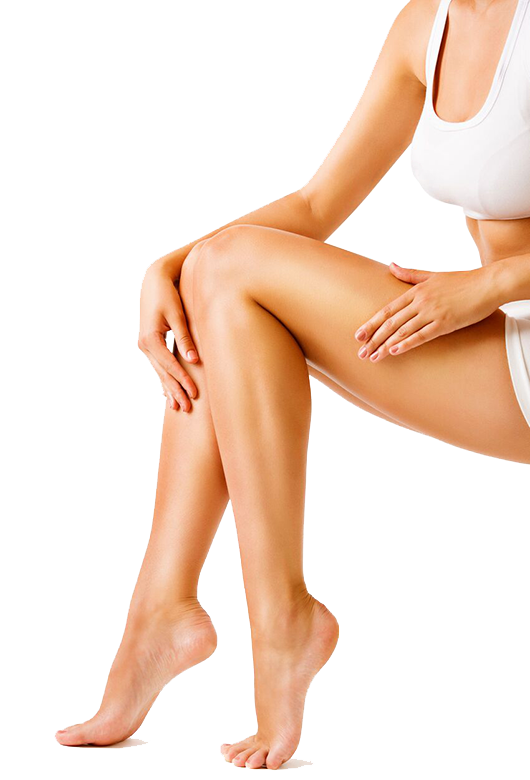 Laser Hair removal procedure woman legs photo